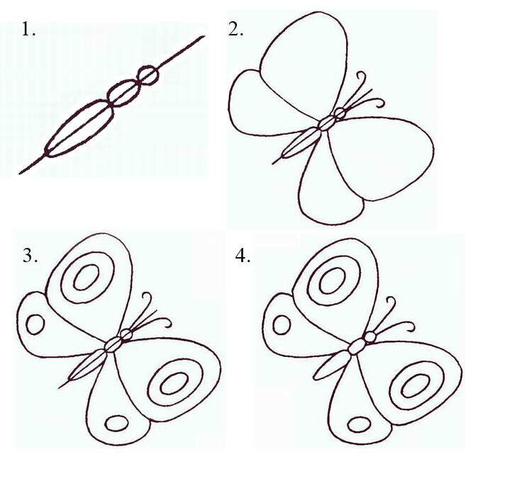 Картинки как нарисовать узор карандашом поэтапно