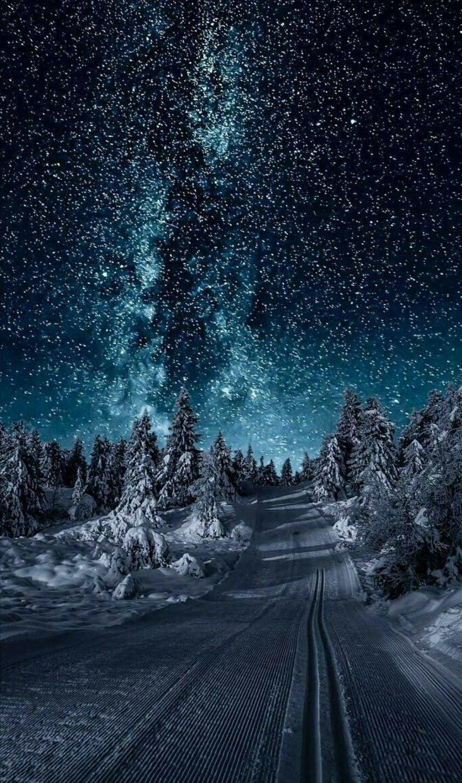 самых зимняя картинка на телефон галакси них
