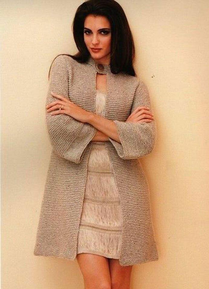 6f4b29637 ... Women s Hand Knitted Coat XS