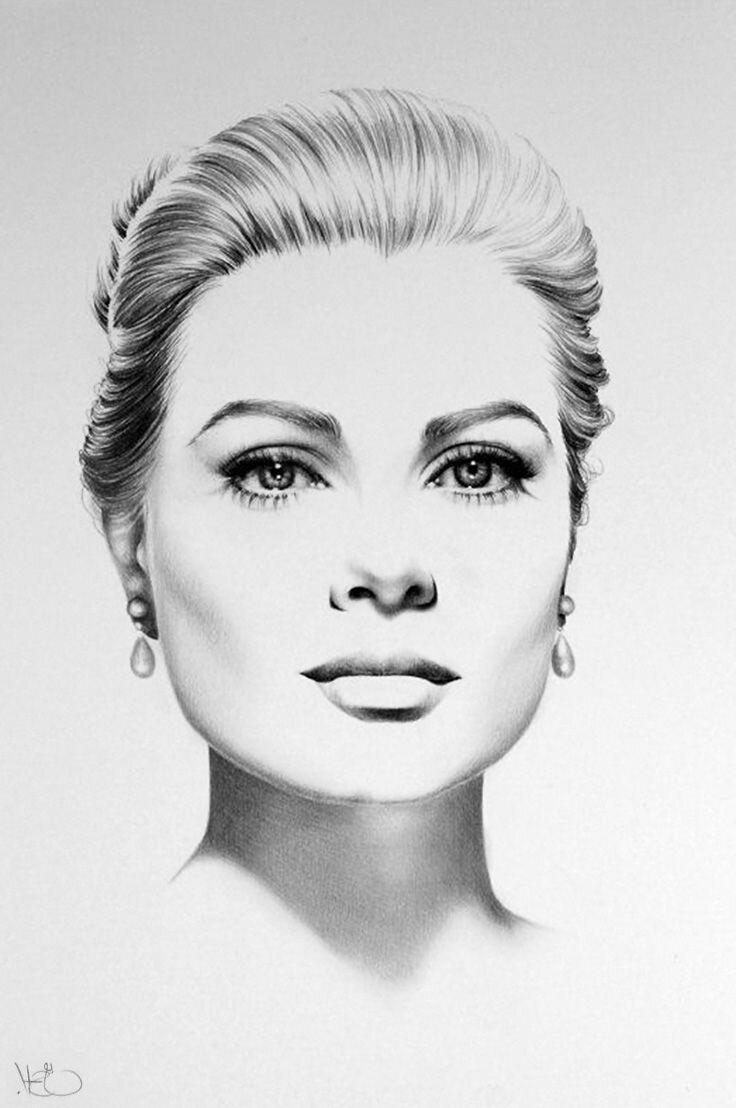 Картинки женские лица нарисованные, днем рождения