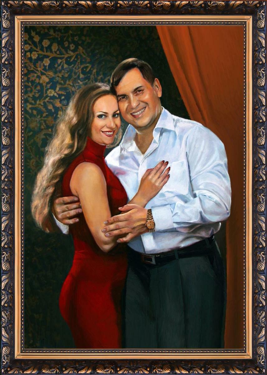 сделать портрет на холсте с фотографии москва обряд серией делается