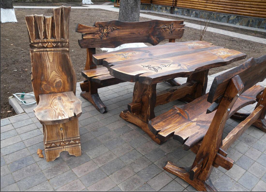 предоставляются фотографии, деревянные столы под старину фото василек