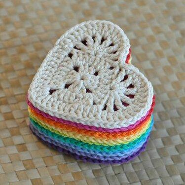 коллекция вязаные сердечки крючком пользователя Alina P в яндекс