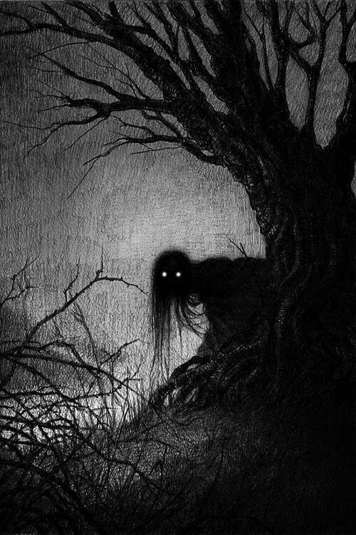 Черно белые картинки кошмары