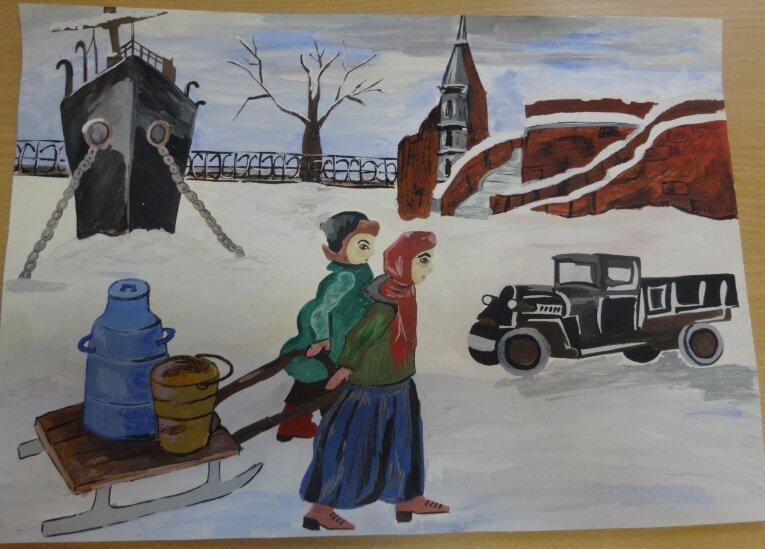 Блокады ленинграда картинки рисунки