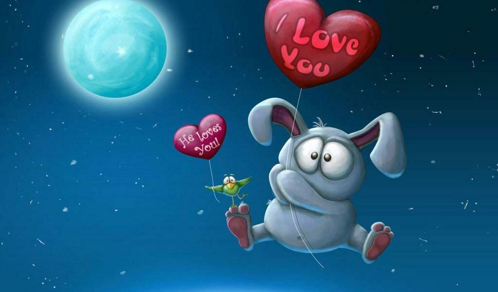 Открытка о любви, открыток