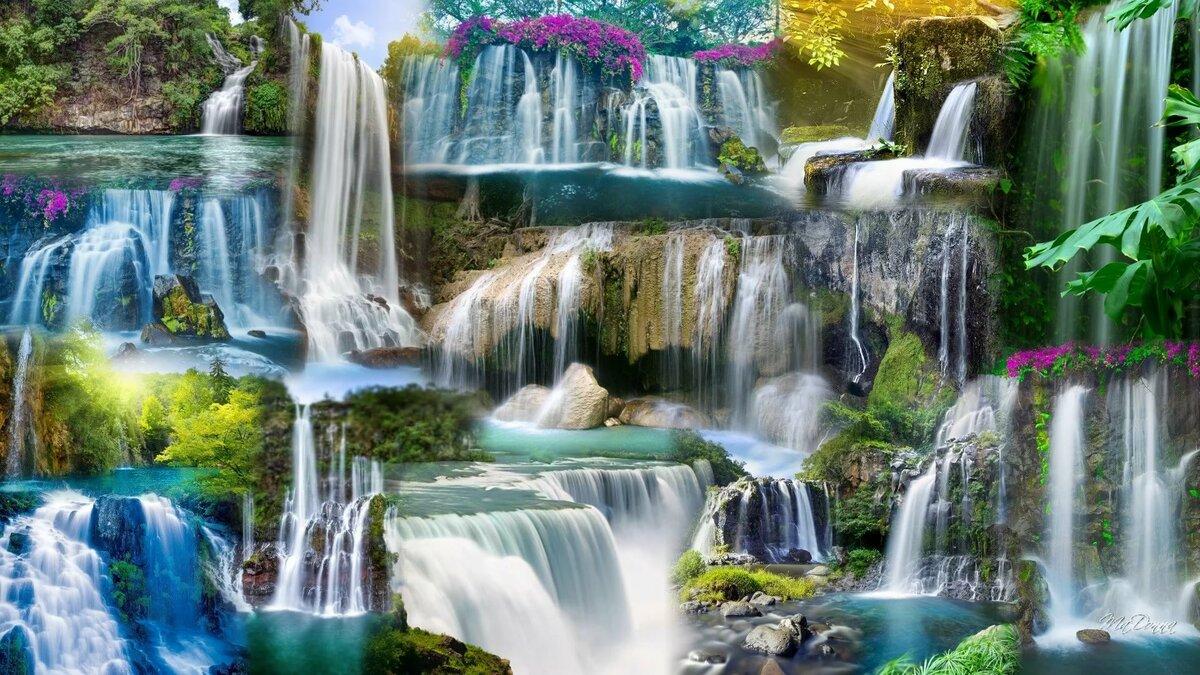 какие фотообои лучше по феншую водопады природа уздечка верхней