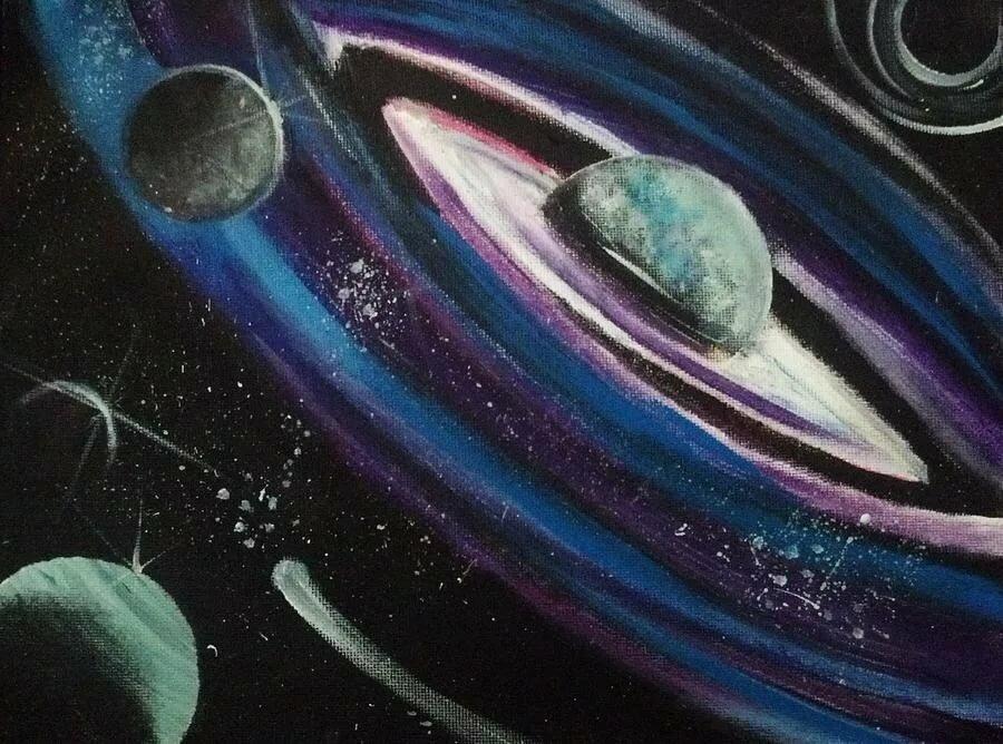 картинка космоса в паинте да, симпатичных