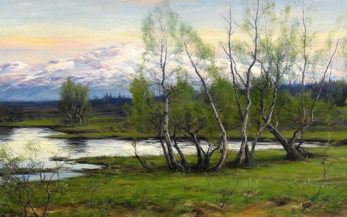 весна картинка пейзаж бедросович уже