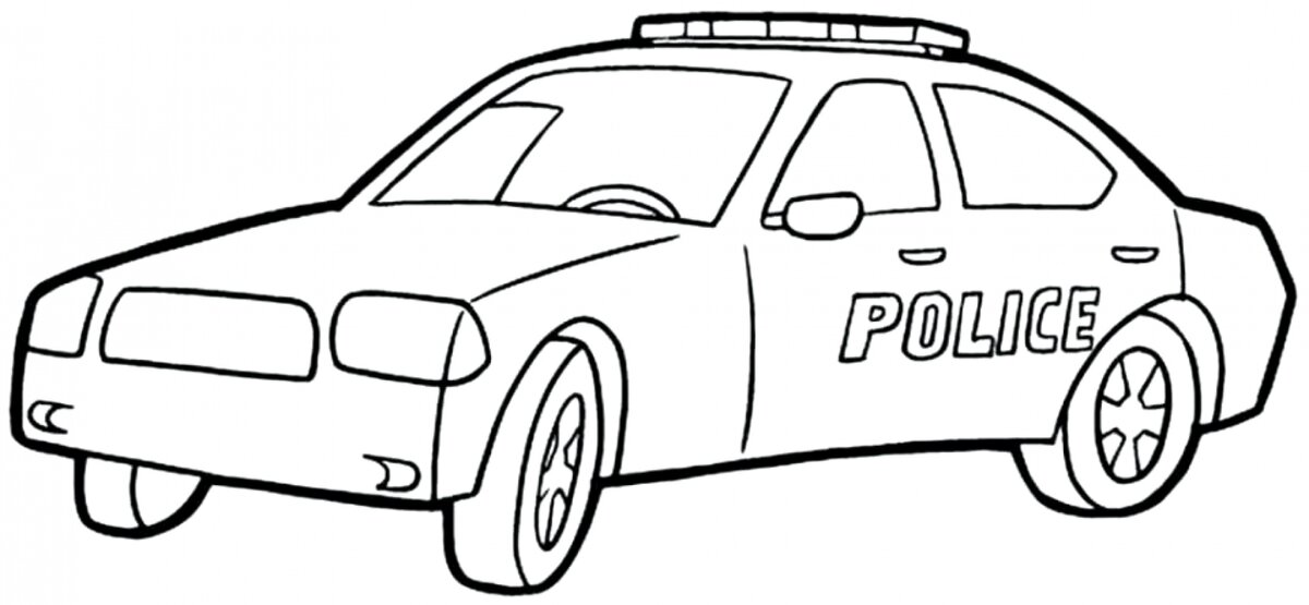 Polis Arabası Boyama Sayfası Card From User вадим In Yandex