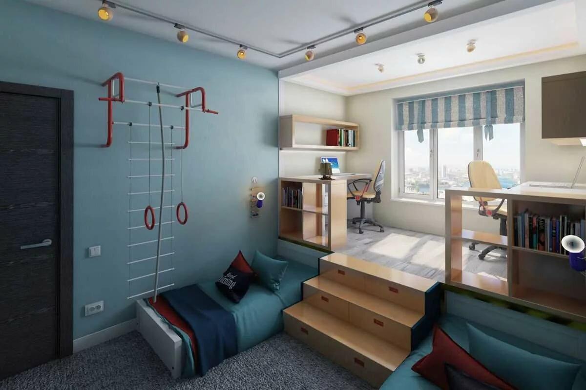 комната на двоих детей мальчиков