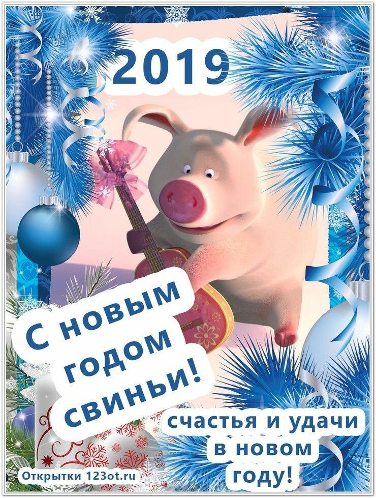 Это, открытки с поздравлениями нового года свиньи