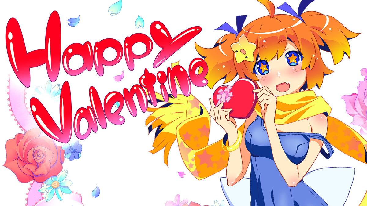 Смайлики, валентинки открытки аниме