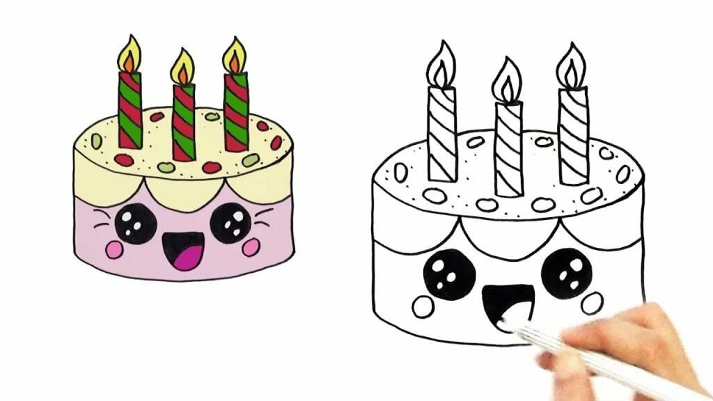 Красивые картинки с днем рождения карандашом для срисовки