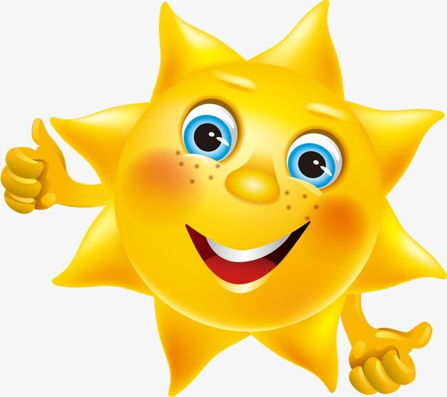 Солнышко с глазками картинки для детей