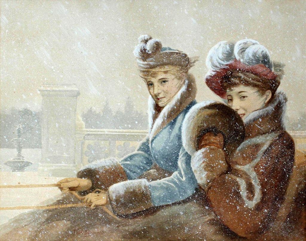 Картинки, старинные картинки зима