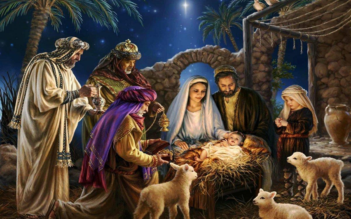Картинка с праздником рождества христова