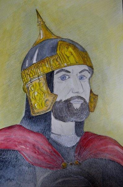 иллюстрации к опере князь игорь рисунки фигура освещается лучами