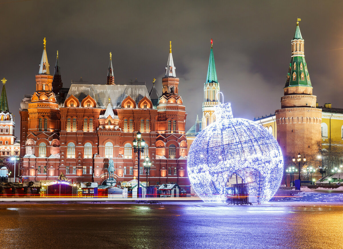 Открытке, картинки новогодней москвы 2018