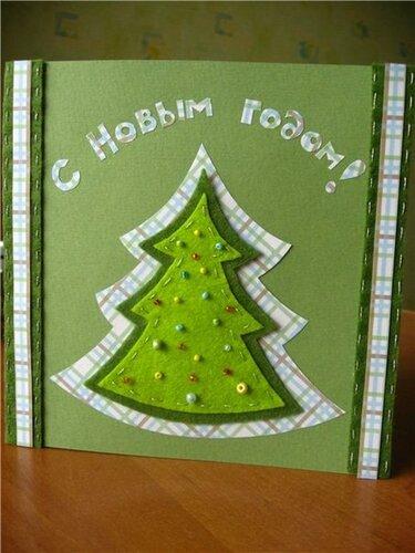 Новогодние открытки с фетром
