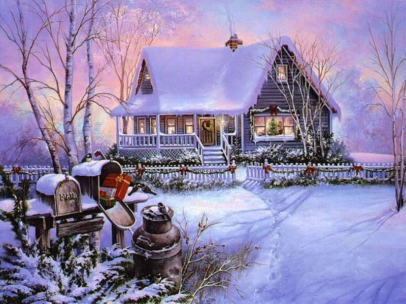 Верь себя, красивая открытки с новым годом и рождеством 2017