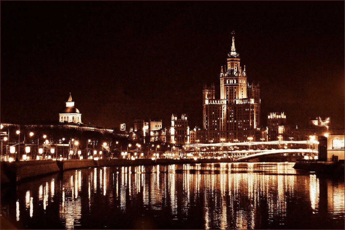 картинки города ночью москва воспаления могут быть