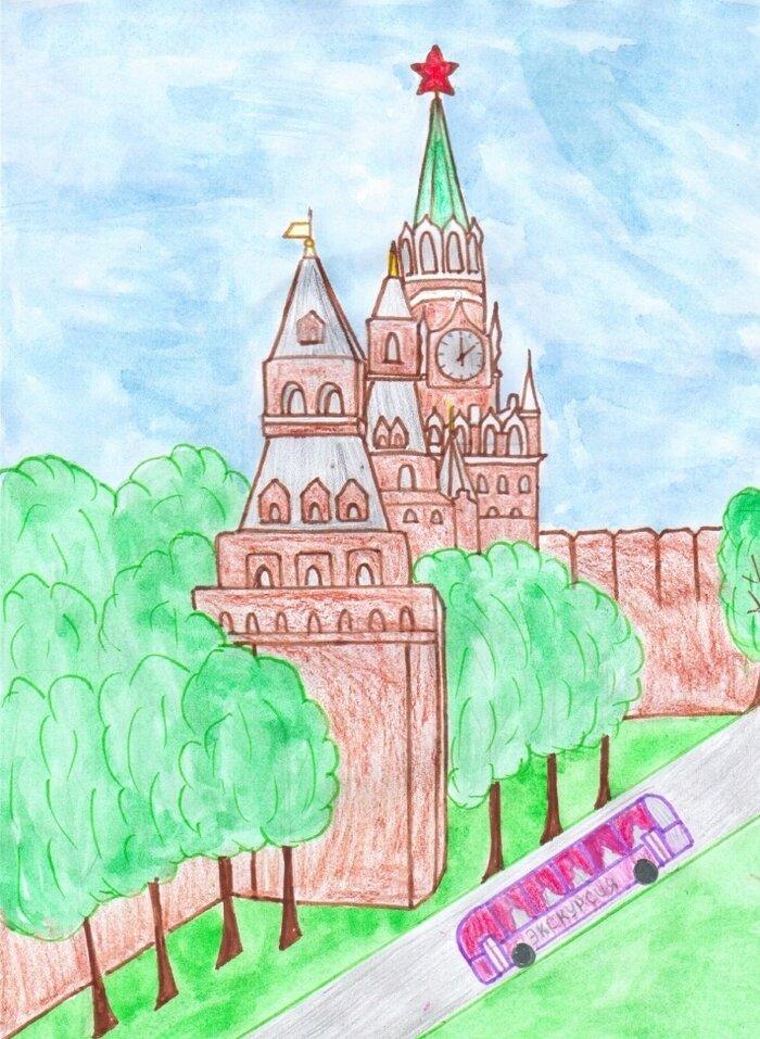 Стихи, день россии рисунок карандашом