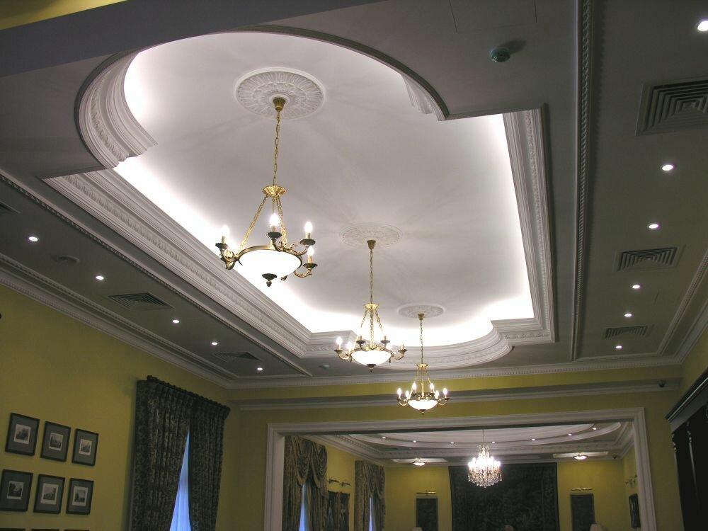 Гипсокартон потолки в картинках и фото для зала