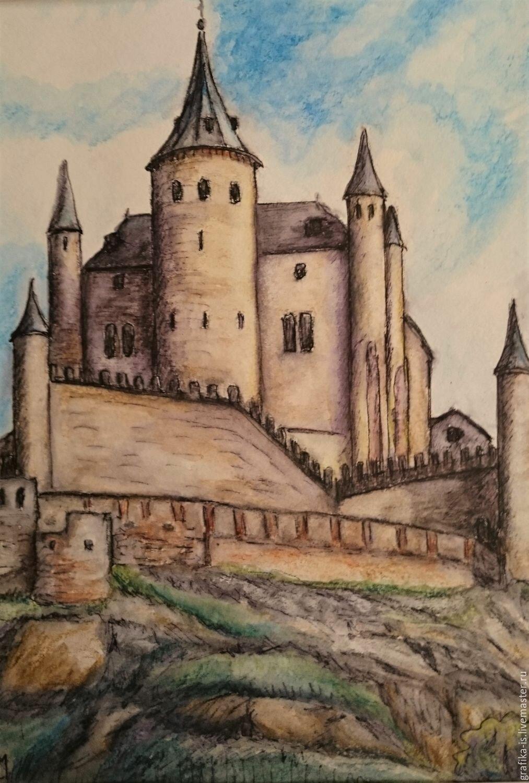 рыцарские замки рисунки картинки два тура