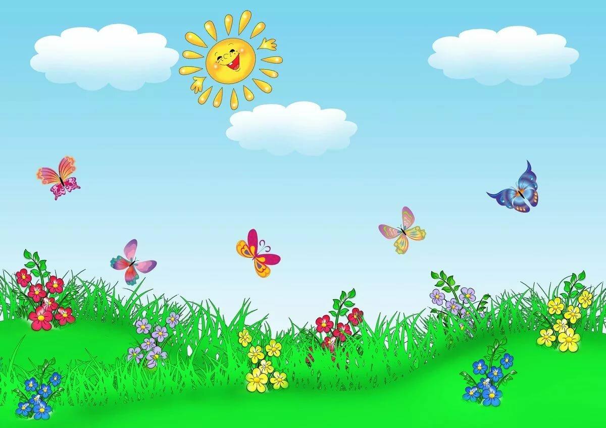 Летний фон картинки для детей, открытки
