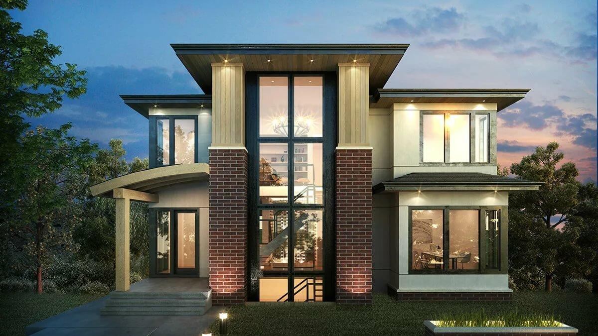 эксперт объясняет кирпичные дома фото с большими окнами лучше