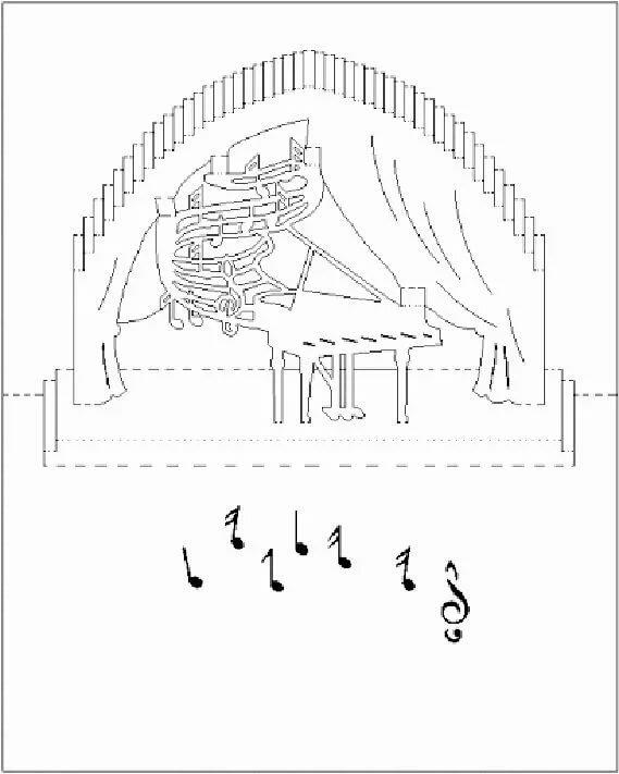 Музыкальные открытки схема, открытку