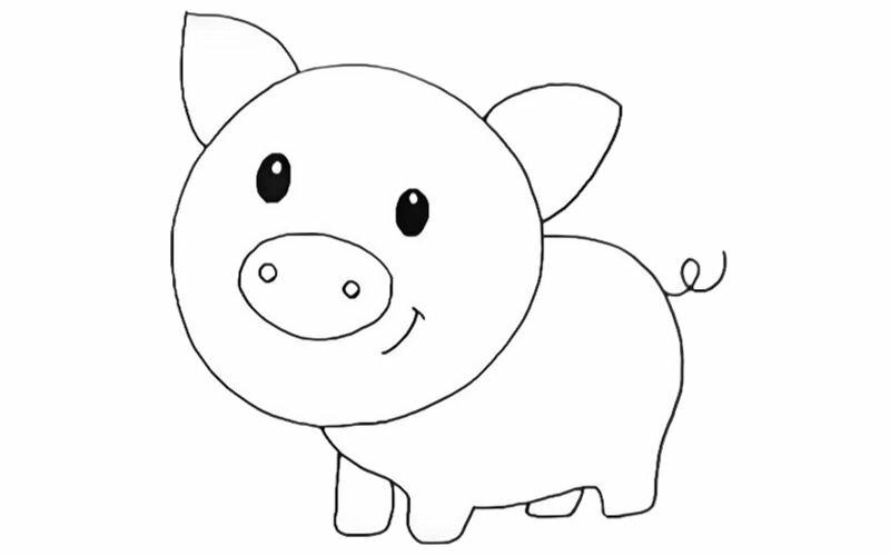 , рисунок свиньи карандашом для детей