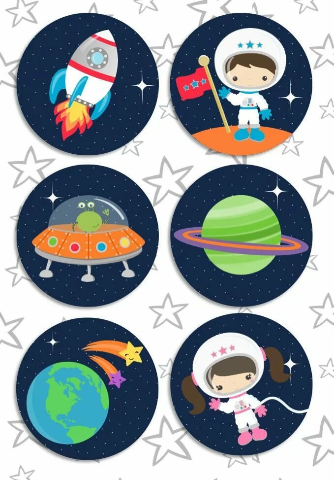 astronaut party printables - 679×974