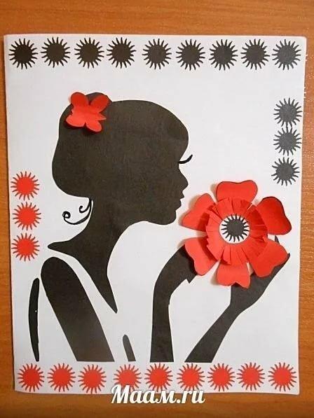 Классный час изготовление открытки для мамы