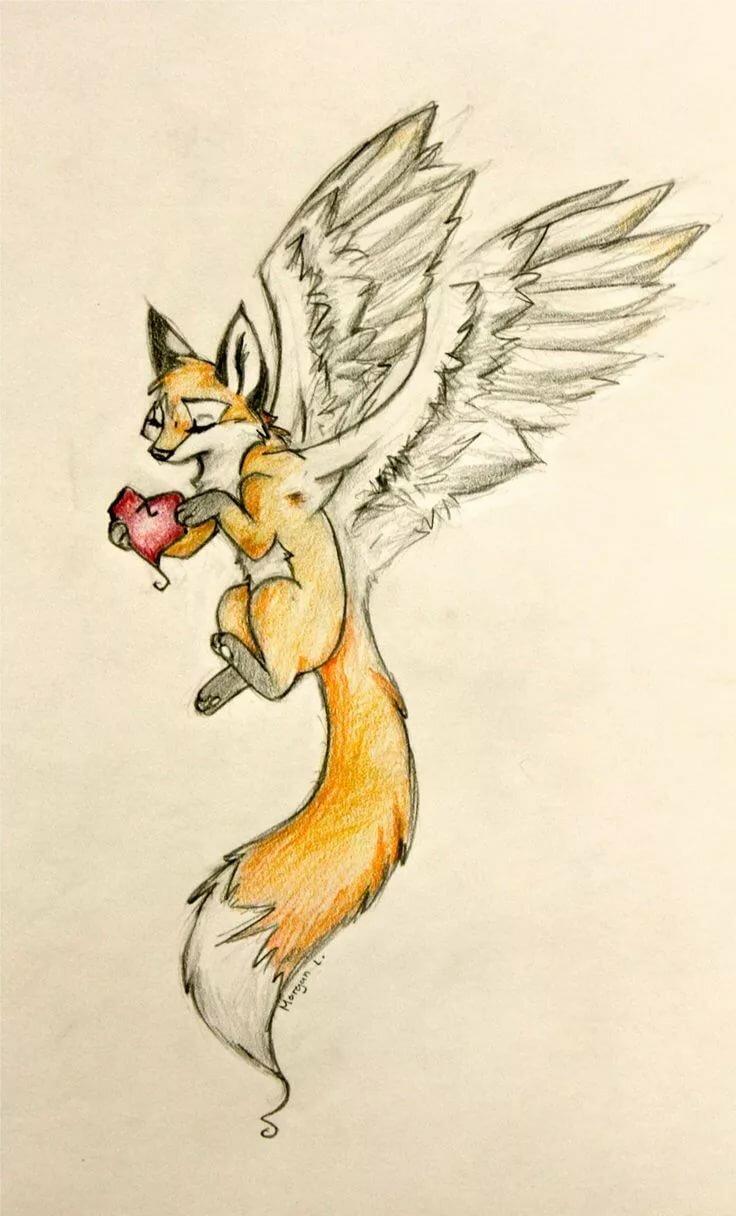 Рисунки для срисовки прикольные лиса