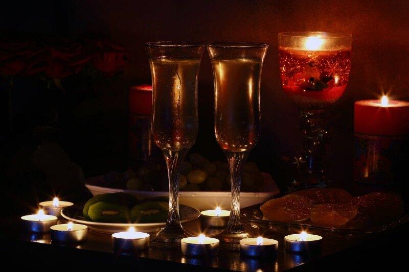 Открытки романтический зимний вечер, фото надписью
