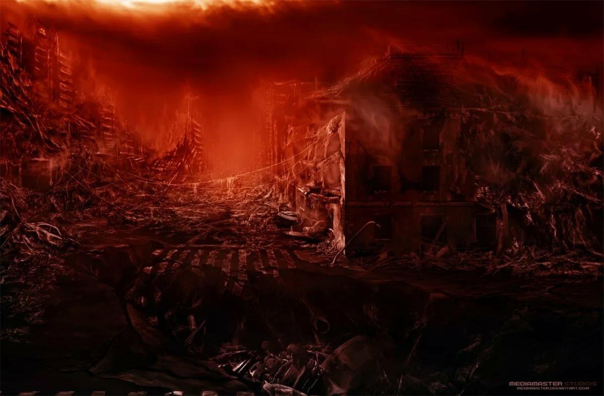 Черные картинки ада