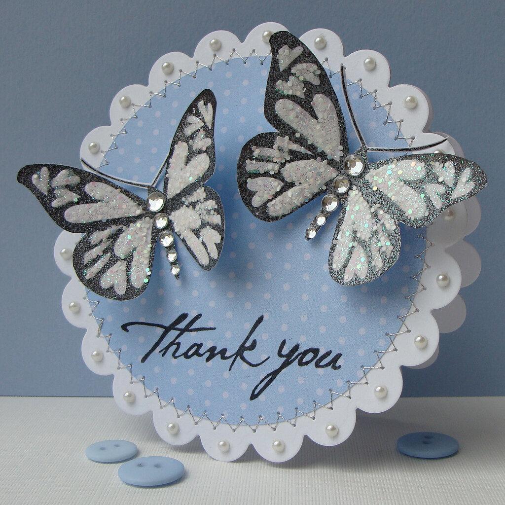 Скрапбукинг открытка в форме бабочки