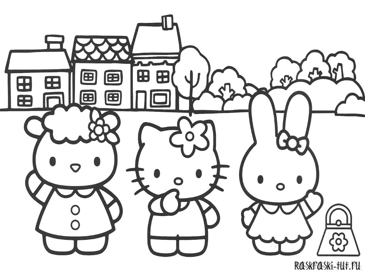 «Раскраски Хелло Китти распечатать / Hello Kitty #5 ...