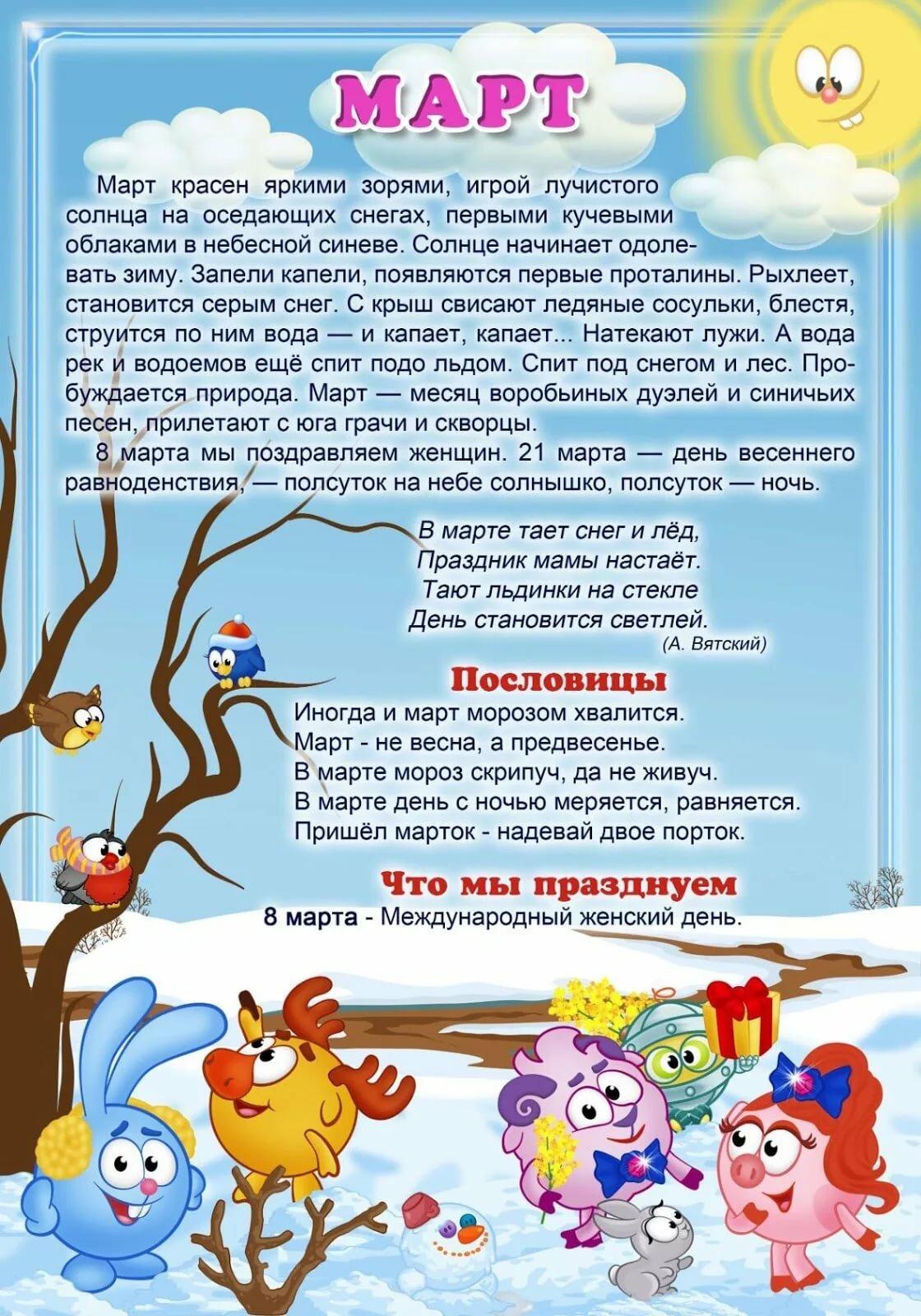 информация о весне в картинках вот
