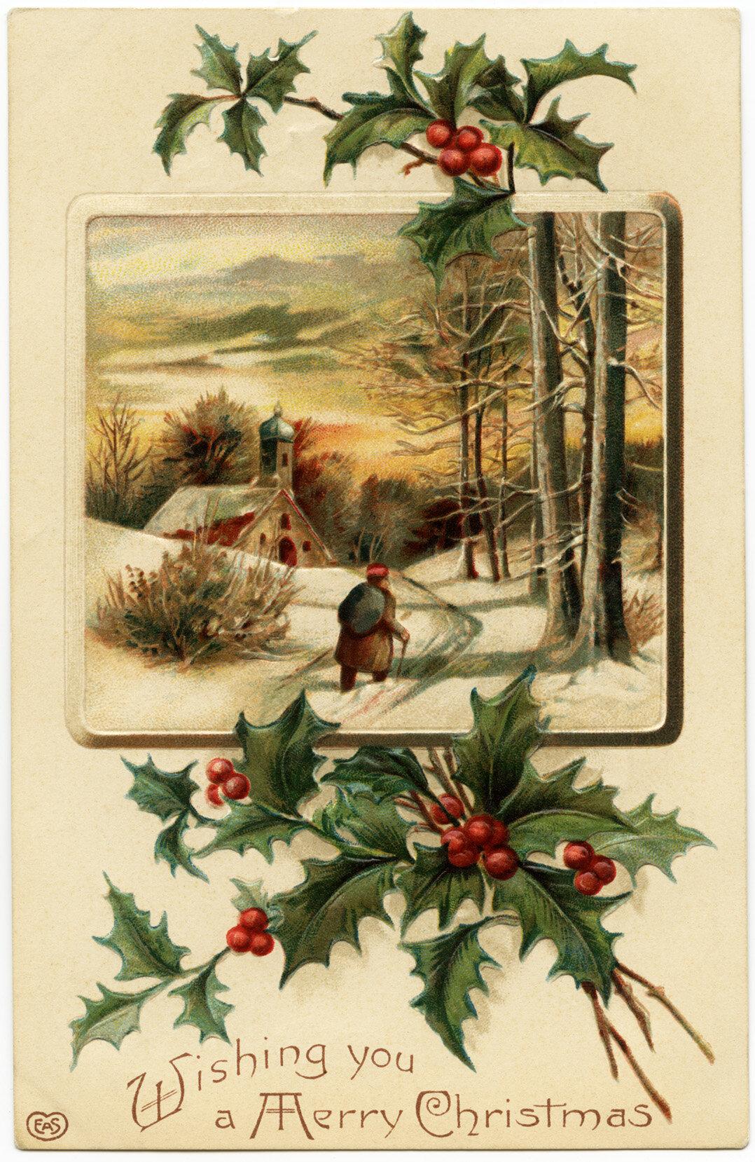 Матрешек, европейская открытка