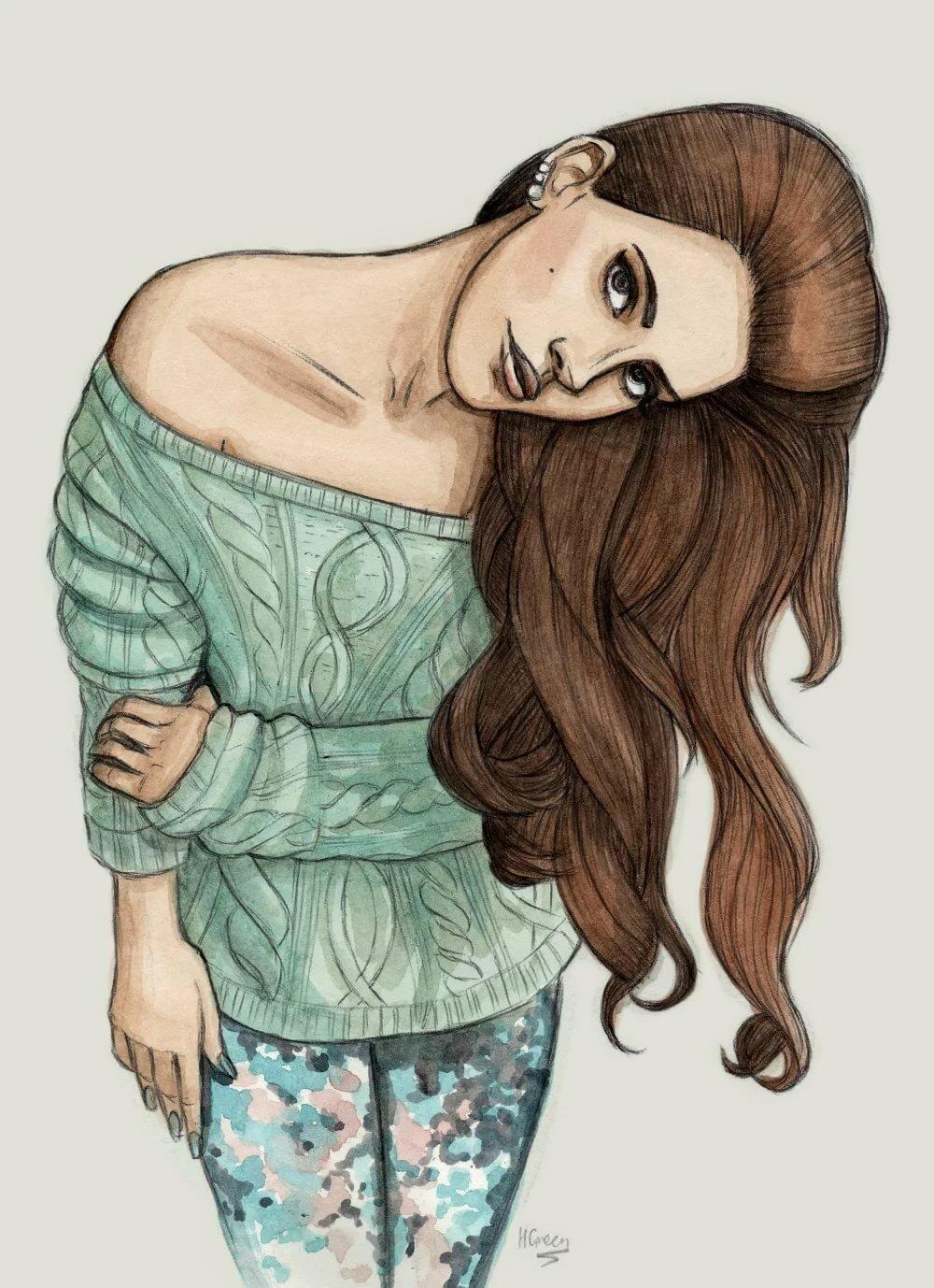 Крутые рисунки для личного дневника девочки, годом работы