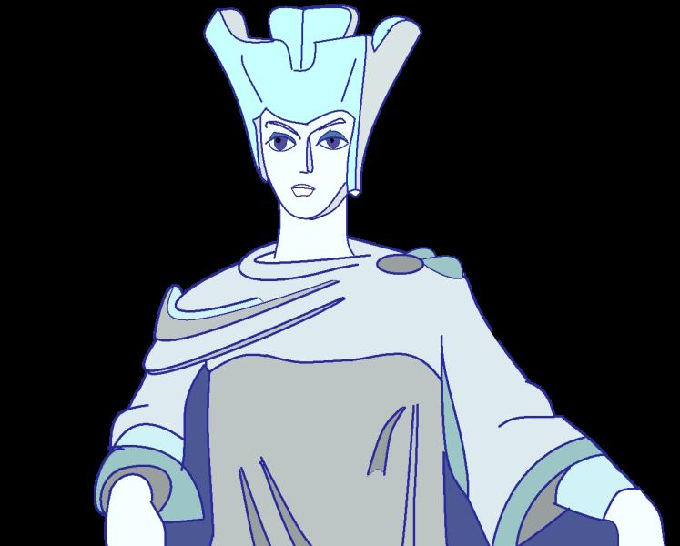 Портрет снежной королевы раскраска