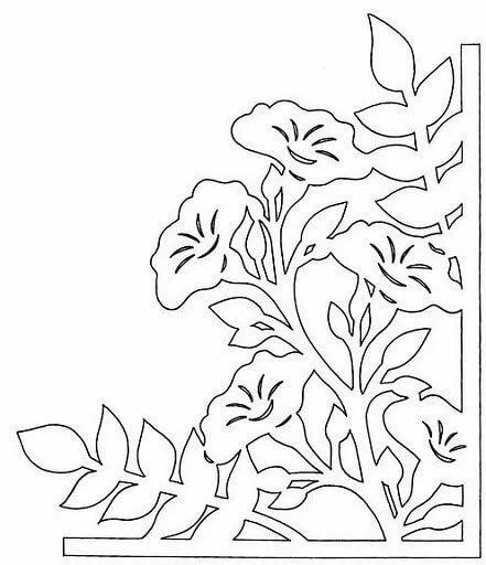 Вытынанки цветы шаблоны для открыток
