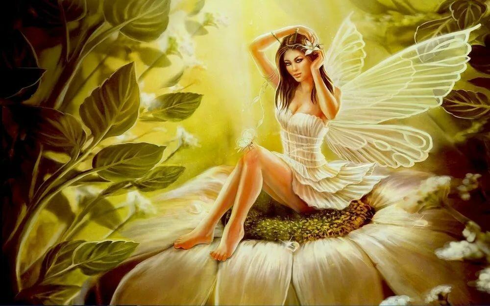 Подписать, открытка девушки с крыльями