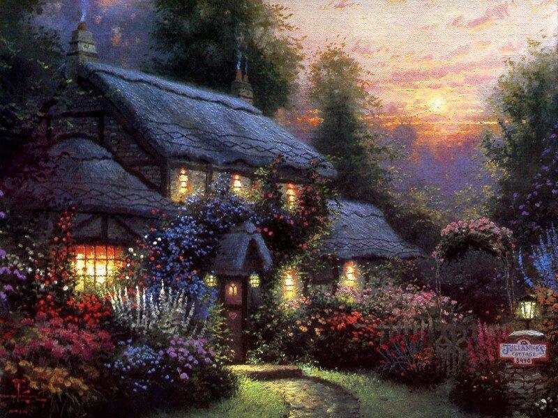 Дом открытки