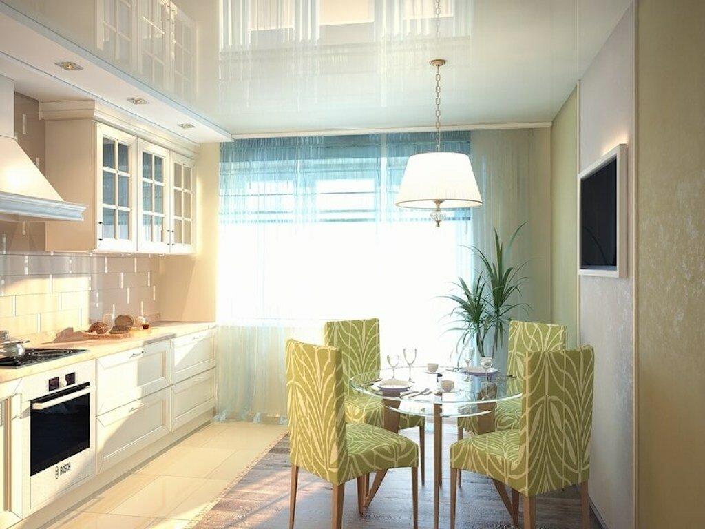 Освещение кухни с натяжными потолками фото