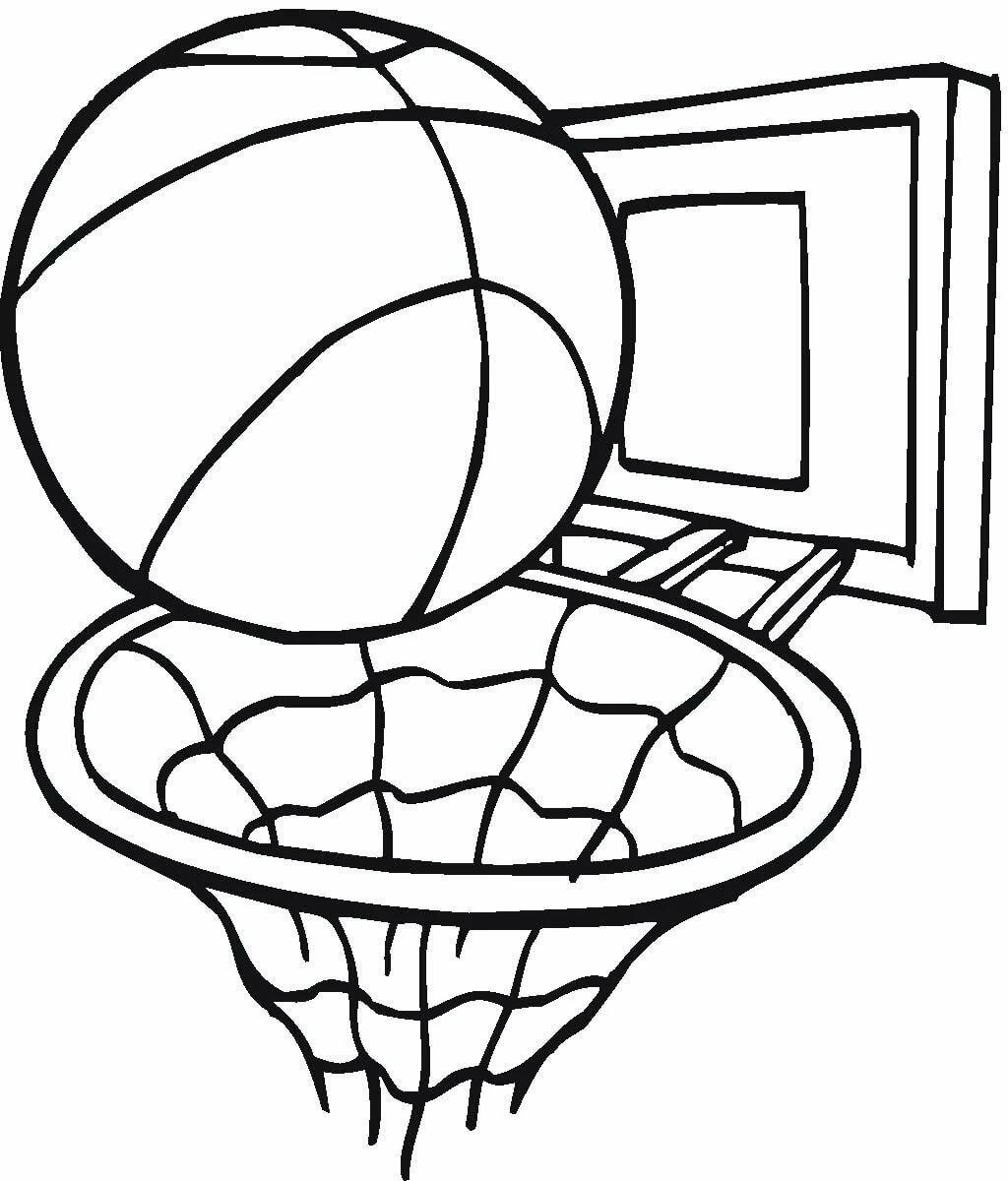 Рисовать картинки баскетбол