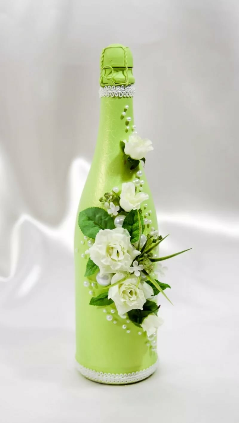 Картинки бутылки шампанского с цветами